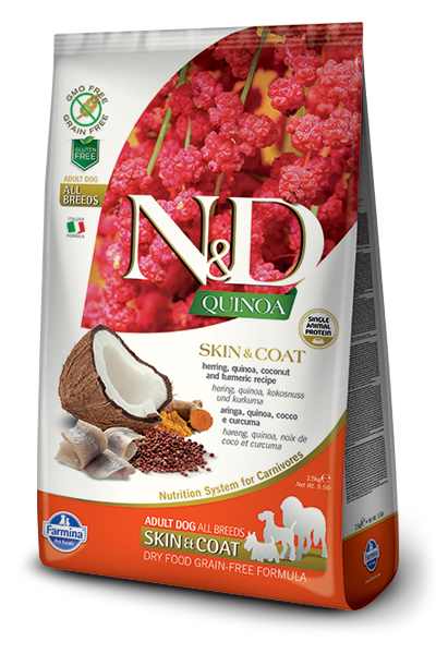 440_17_ND-Quinoa-2.5kg-All-Adult-Dog-SKIN&COAT-HERRING-[3D_Front+Right].png